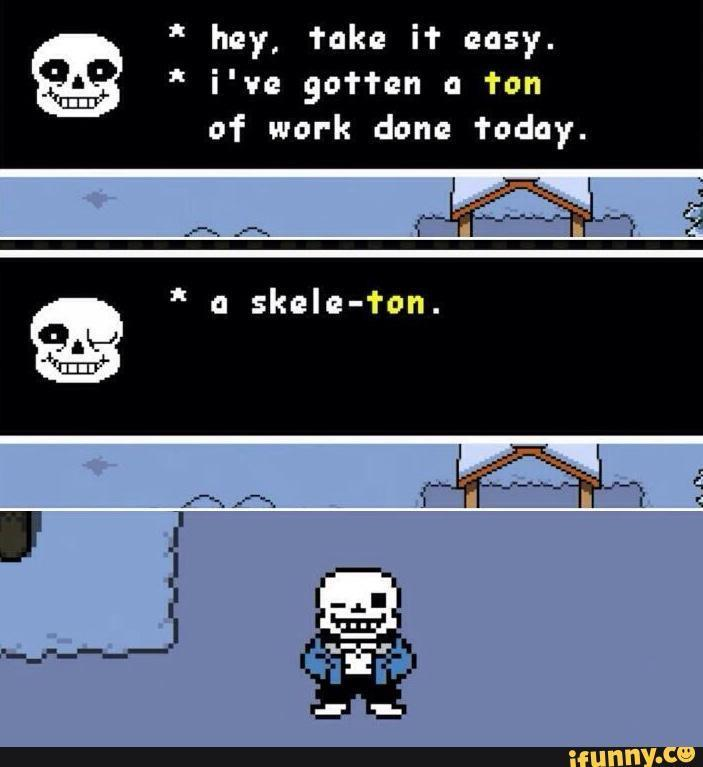 What do you think of Sans puns?!