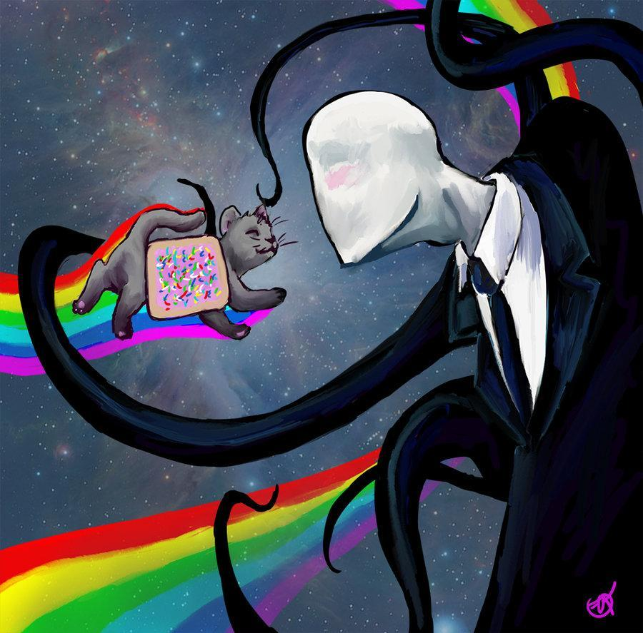 SLENDY get over here!!! Slender:alright..so whats your favorite color?  Jeff:.. .-.