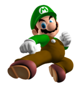 In Super Smash Bros. (64), what is Mario's Green Palette Swap based off of?
