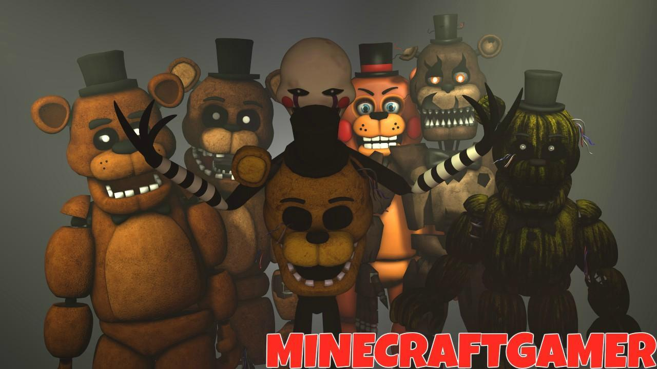 What were the names of the fnaf2 withered animatronics?