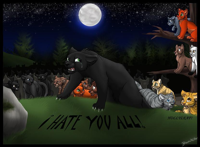 If you like Hollyleaf how do you feel about her telling the clans about Squirrelflight and Leafpools secret?
