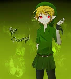 how does Ben Drowned kill his victim's