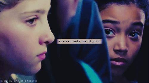 HUNGER GAMES FRIENDSHIP BETWEEN RUE AND PRIM