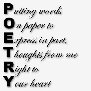 Poetry...