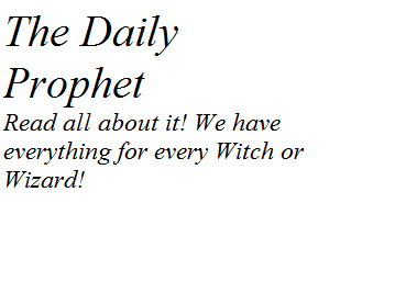 The Daily Prophet!