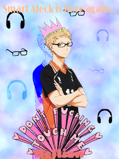 Smart Aleck Is Here Again... (Tsukishima x Reader)