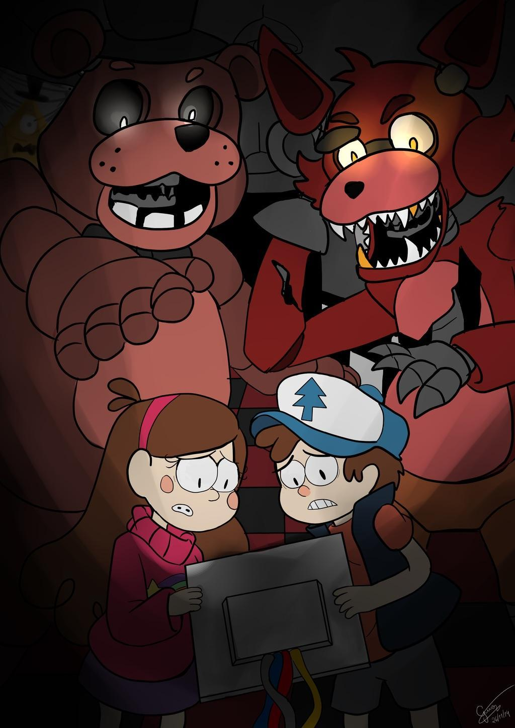 Gravity falls FNAF crossover! Part 1