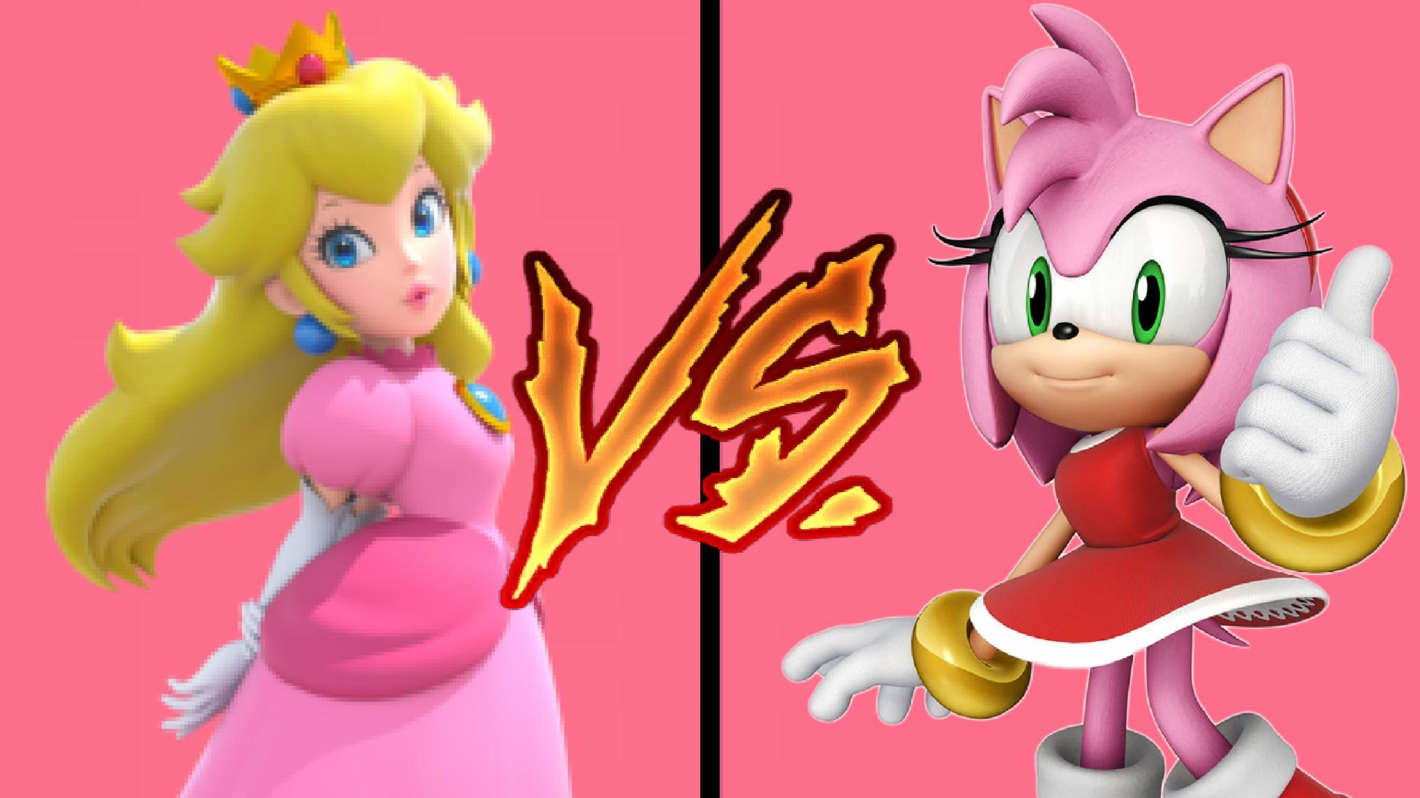 "Princess Peach ""Princess Toadstool"" VS Amy Rose ""Rosy the Rascal"""