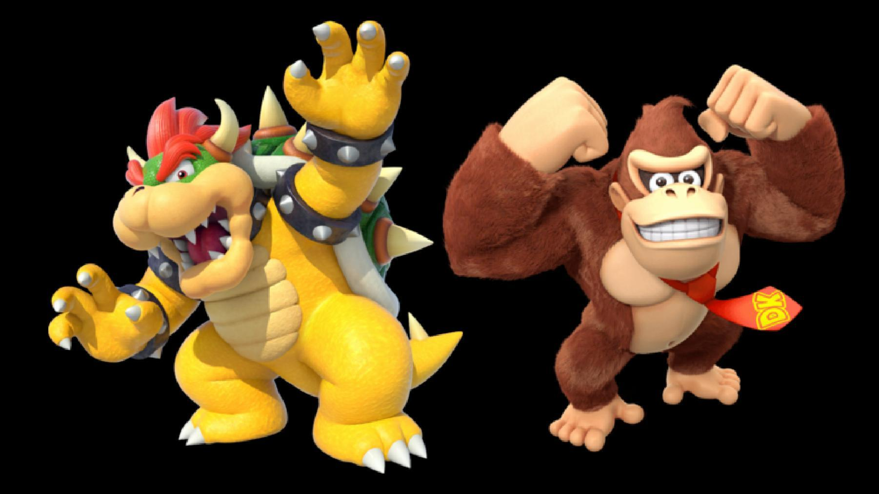 Bowser and Bowser Jr. vs Donkey Kong and Diddy Kong