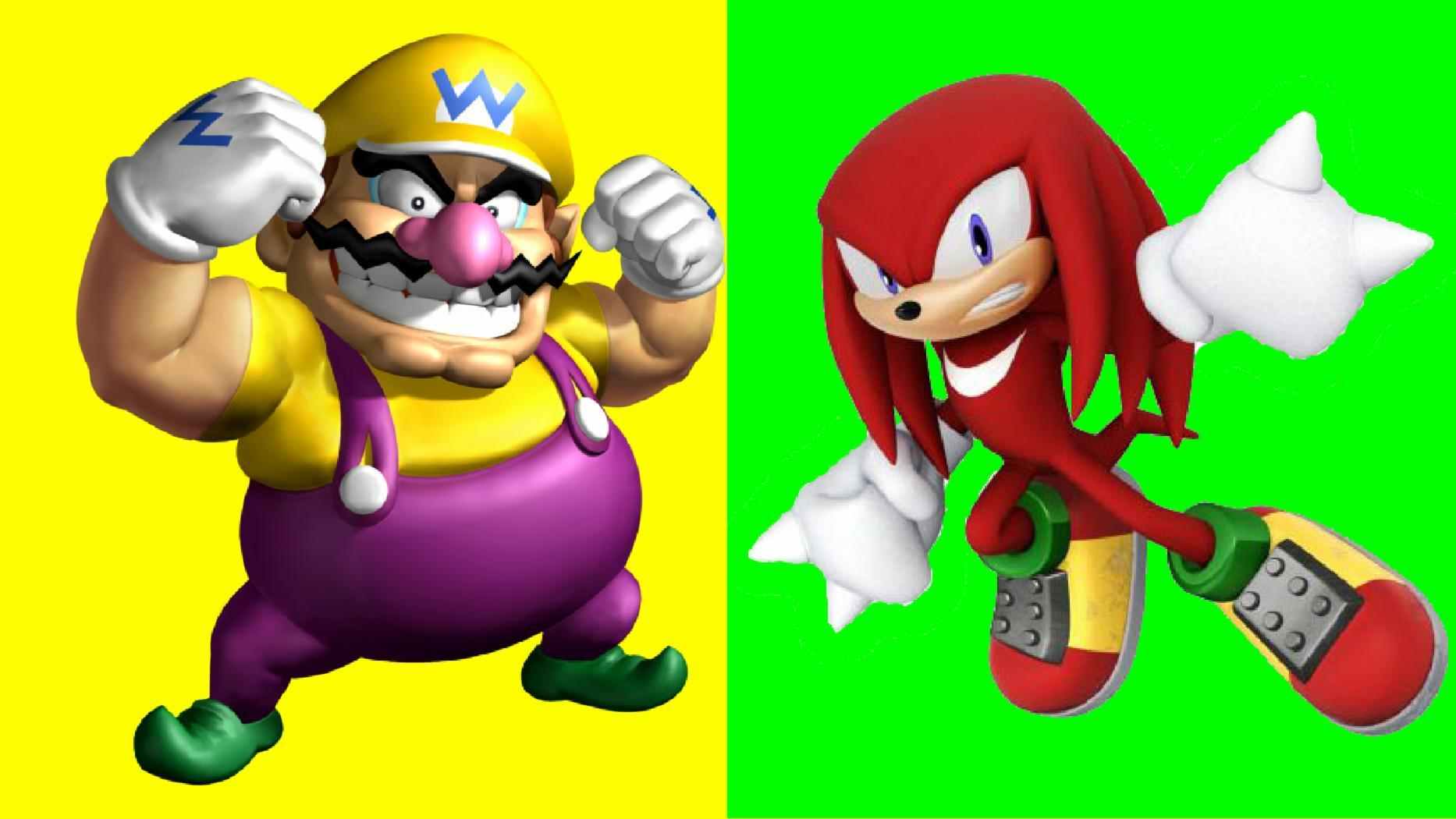 Wario vs Knuckles the Echidna