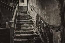 The stairs...