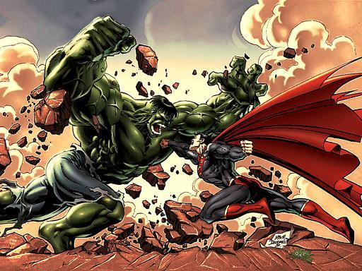 Superman Faces The Hulk