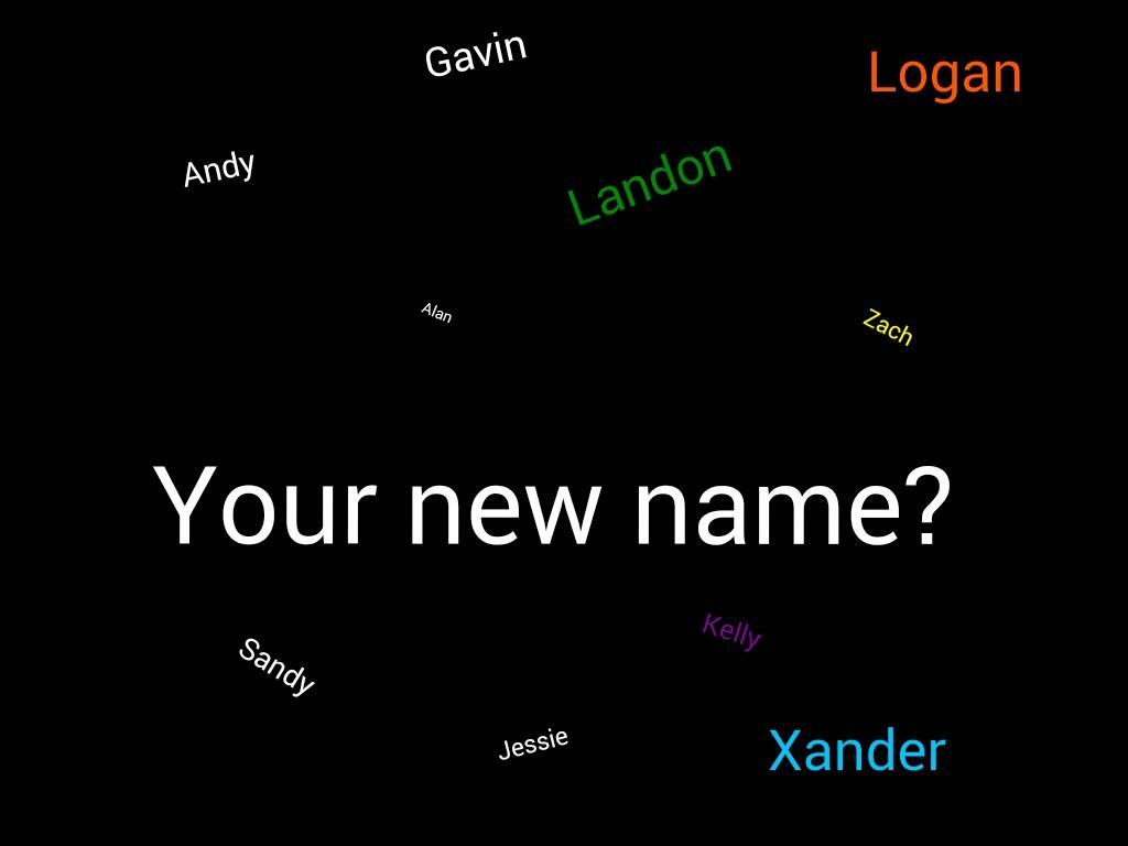If you could change your name... what would your name be?