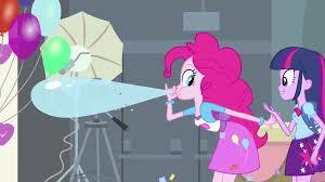 "Did anyone else notice how in ""Equestria Girls"" Pinkie takes a drawing off her dress and it somehow becomes a real balloon?"