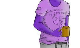 Phone guy or purple guy?