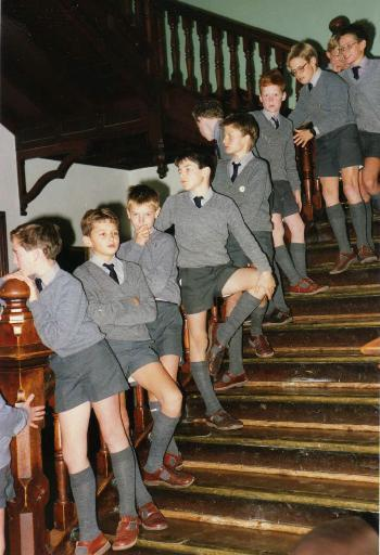 How long did boys where short trousers in WW2?