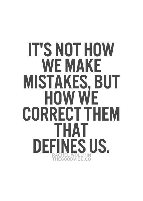 If we learn from our mistakes, why are we always so afraid to make them?
