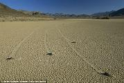 How do Death Valley's sailing stones move themselves?