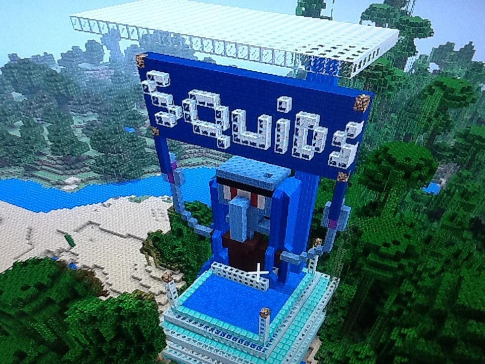 My Squid Fortress in Minecraft