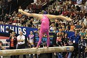 Did anyone beat Nastia Luikin in gymnastics?