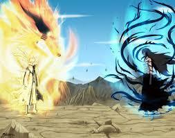 who is the strongest? naruto vs ichigo ninetails vs final getsuga tensho