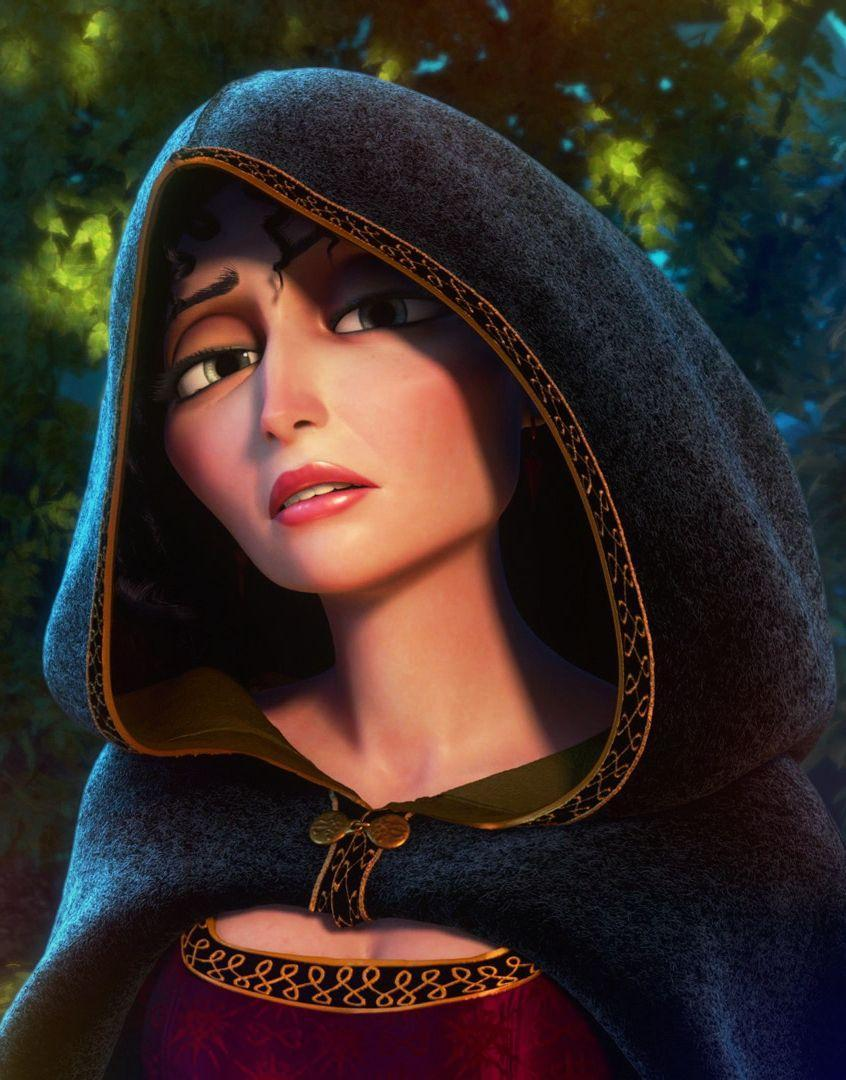 Is Mother Gothel (from Disney Tangled) left or right handed?