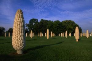 Why are there giant corns in Dublin, Ohio?