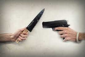 which would you rather fight with, a knife or gun?