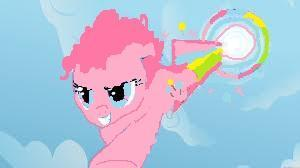 Pinky has no wings but she loves copying rainbow :3