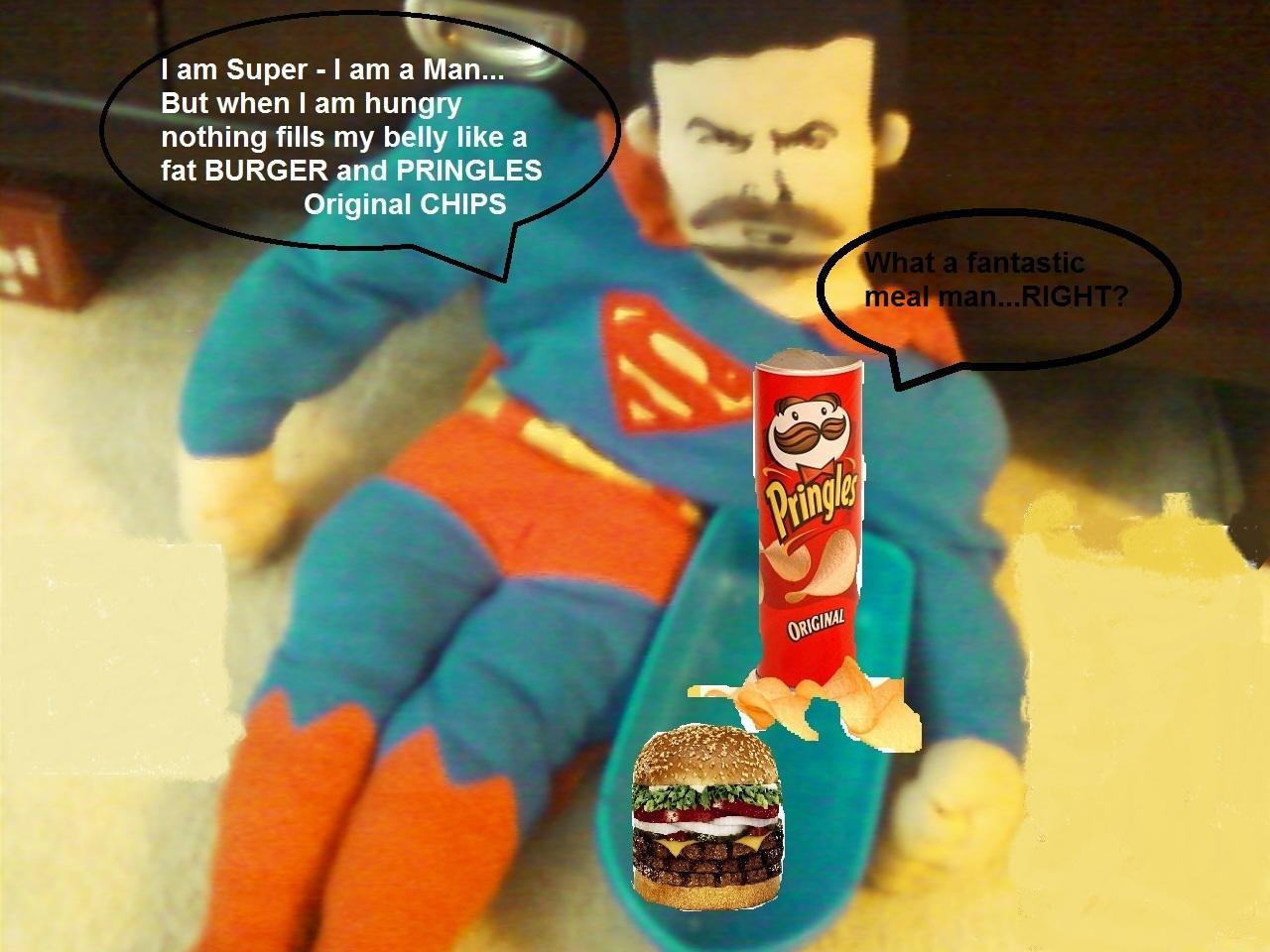 Superman Grows A Goatee And Has Himself A Fattening Yet Tasty And Filling Dinner