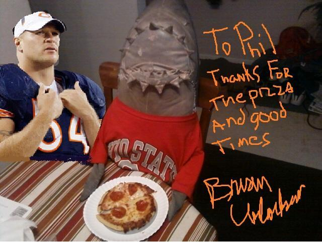 Philop Sharky Gets A Home Run Inn Pepperoni Pizza Delivered And Paid By The Great Brian Urlacher