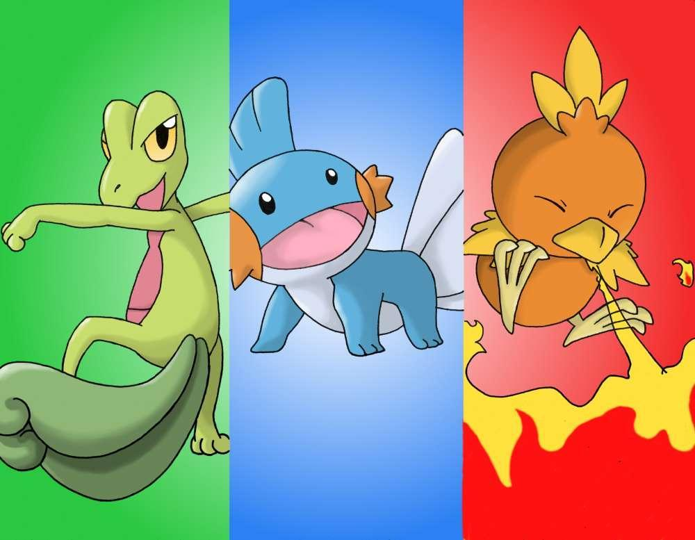 What is the middle pokemon's name?