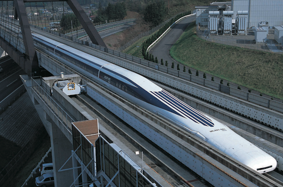 Fastest maglev train in the world.