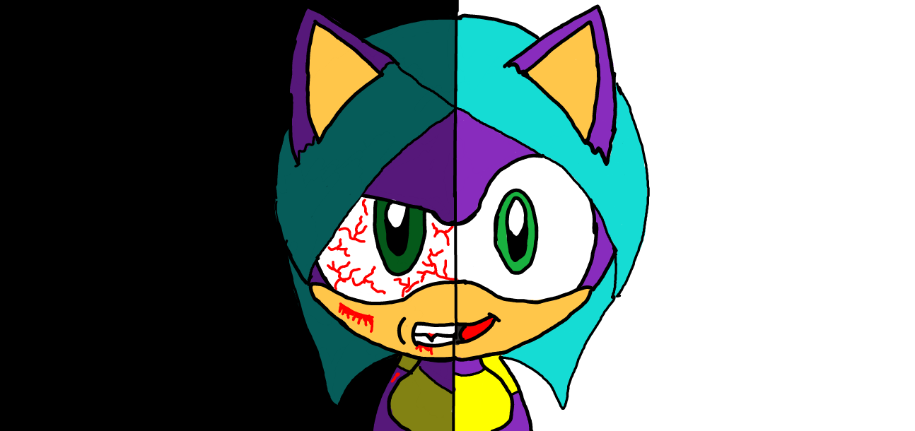 My new sonic character Lili. She has a split personality