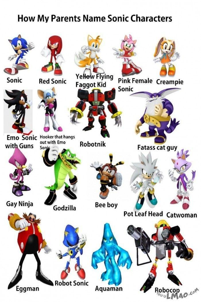 When I searched 4 Sonic characters, this is wat it came up with