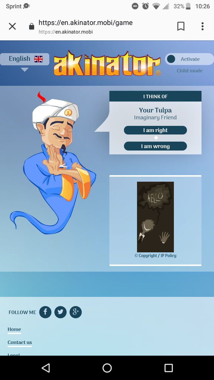 I'm gonna cry thanks akinator