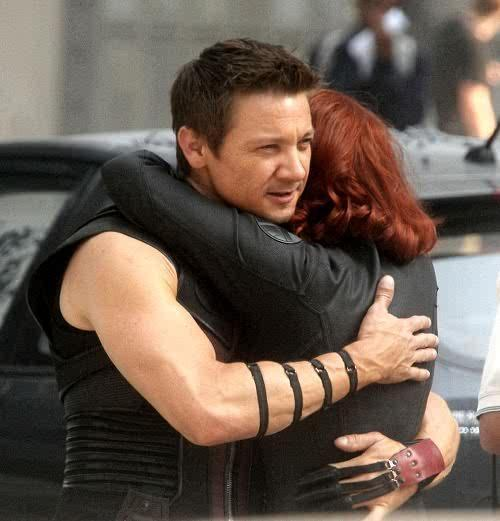 natasha: wish I could stay like this all day. hawkeye: so could I