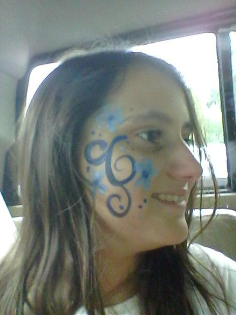I got some face paint at the zoo!